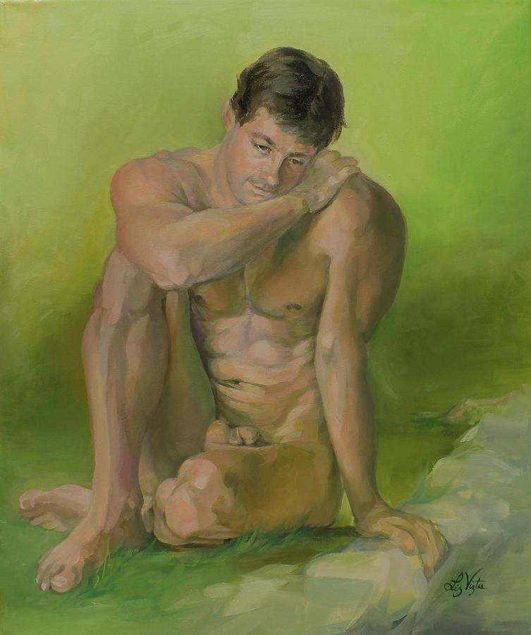 Liz Viztes Painting - Nature Boy by Liz Viztes
