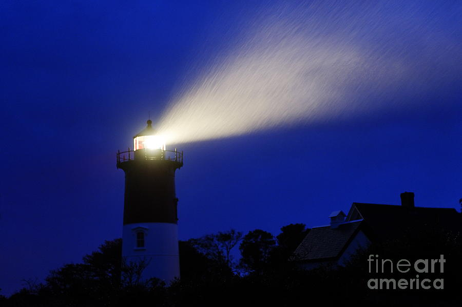 Nauset Light Storm Photograph