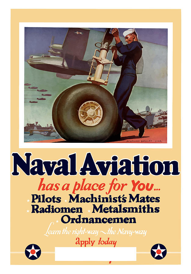 Navy Painting - Naval Aviation Has A Place For You by War Is Hell Store