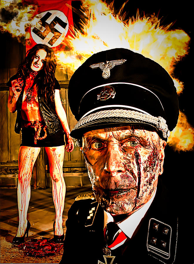 Nazi Zombie Horror Painting By Esoterica