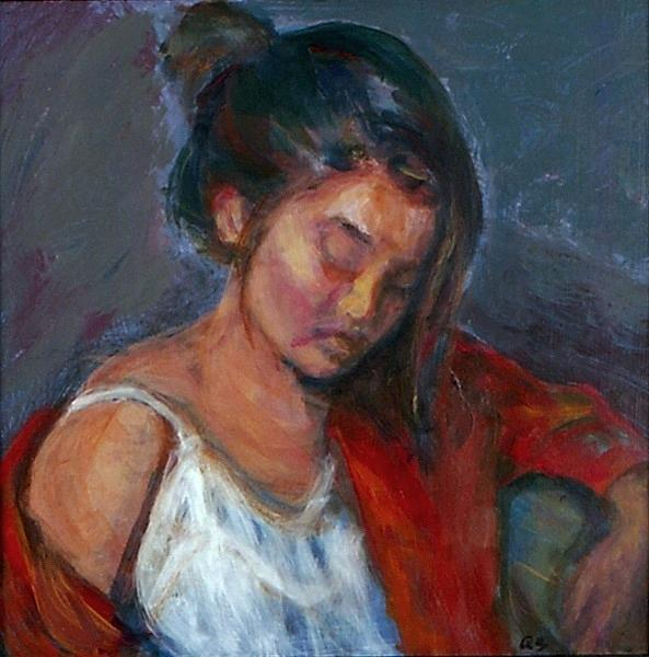 Portrait Painting - Near Sleep by Quin Sweetman