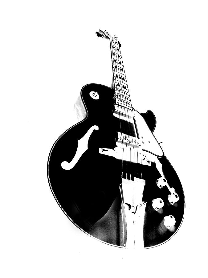 Guitar Photograph - Negative Space by Donna Blackhall