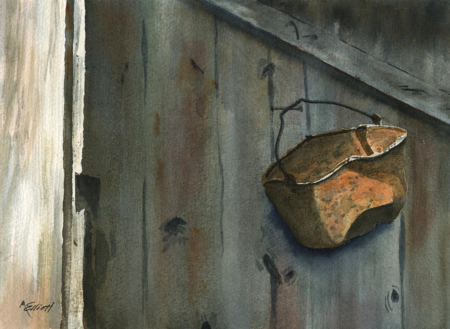 Neighbor Dons Rusted Kettle Painting