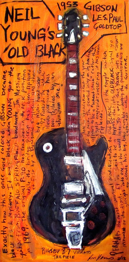 Old Black Painting - Neil Youngs Old Black by Karl Haglund