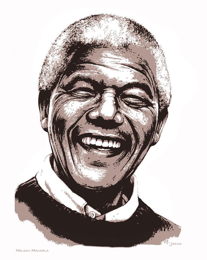 Nelson Mandela Mixed Media