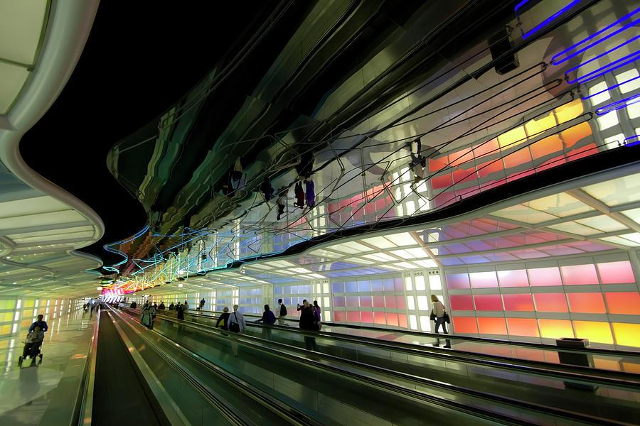 Chicago Photograph - Neon Hall 2 by Sven Brogren