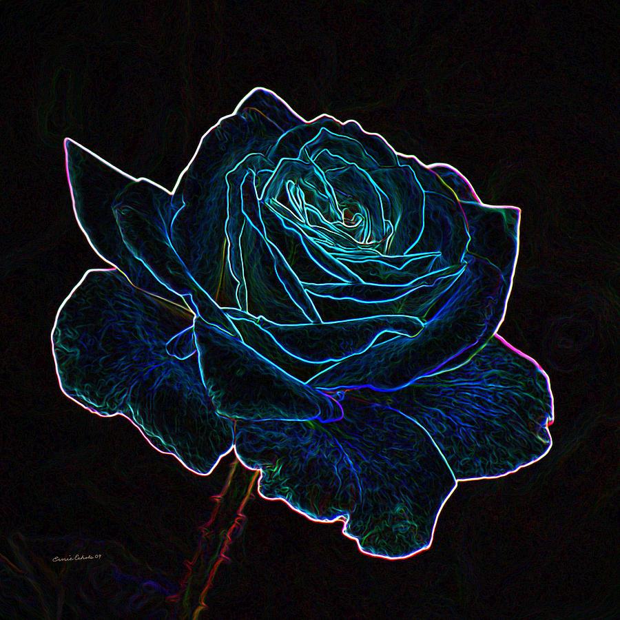 Neon Rose Hd Wallpaper Best Hd Wallpaper