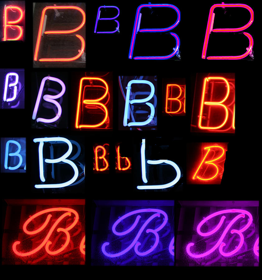 10th Photograph - Neon Sign Series Featuring The Letter B  by Michael Ledray