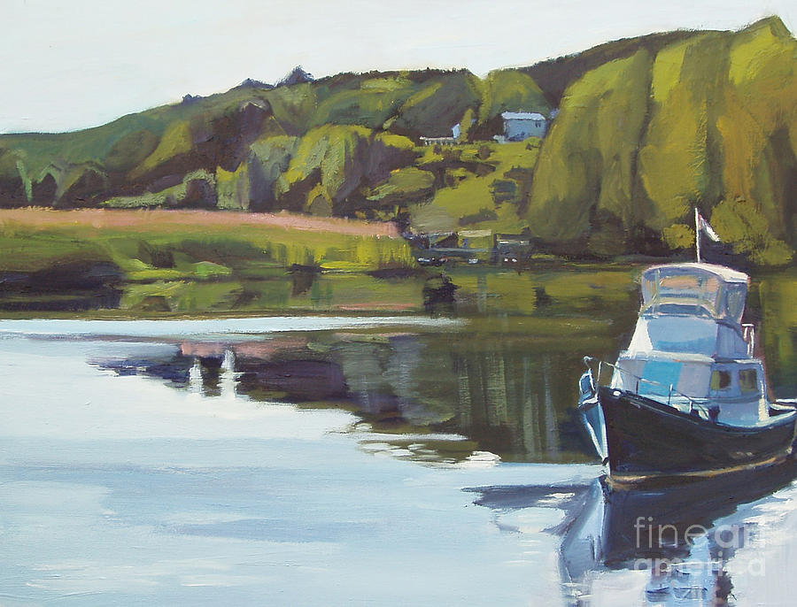 River Painting - Neponset River Morning by Deb Putnam