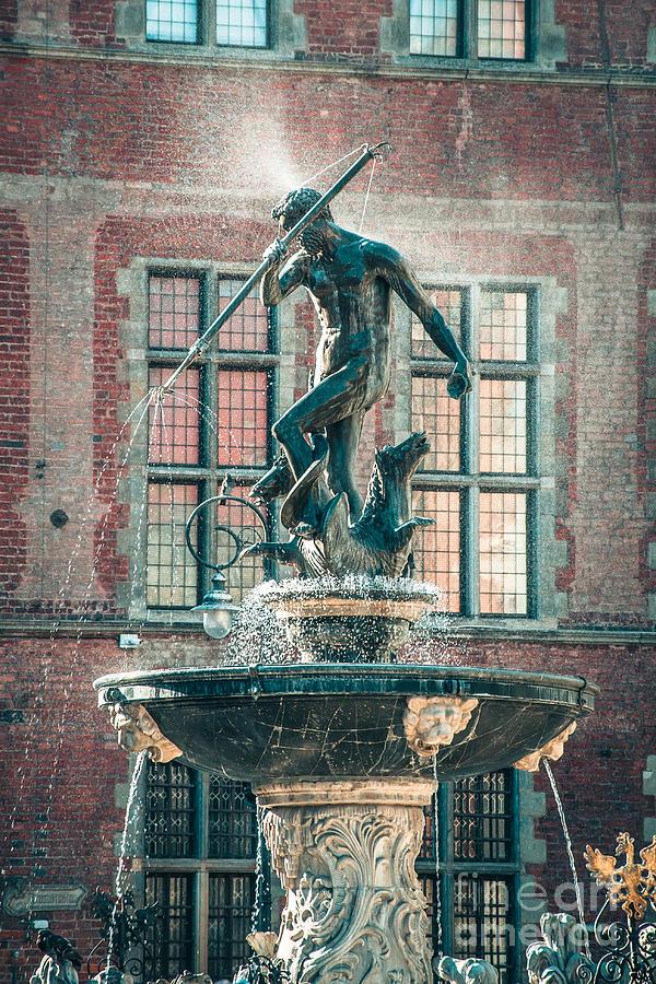 Neptunes Fountain, Gdansk Photograph