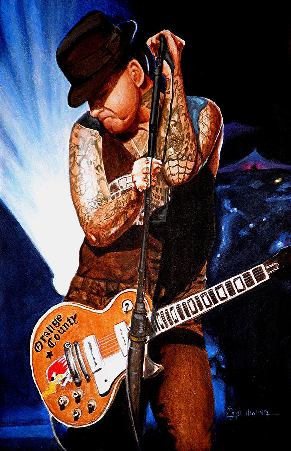 Mike Ness Painting - Ness At His Best by Al  Molina