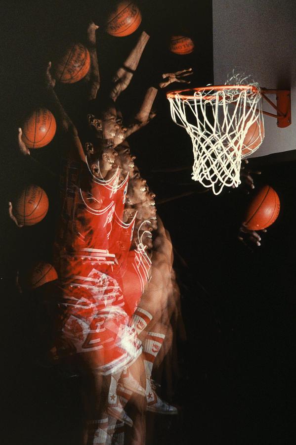Sport; Sports; Basketball; Player; Effort; Ball; Basket; Dunk; Jump; Jumping; Skill; Game; Games; Basket Ball; Hoop; Round Ball; Net; Swish; Man; Boy; Black; African American; African-american Photograph - Net Fever by Gerard Fritz