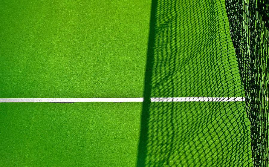 Tennis Photograph - Net Shadow by Nancie Rowan