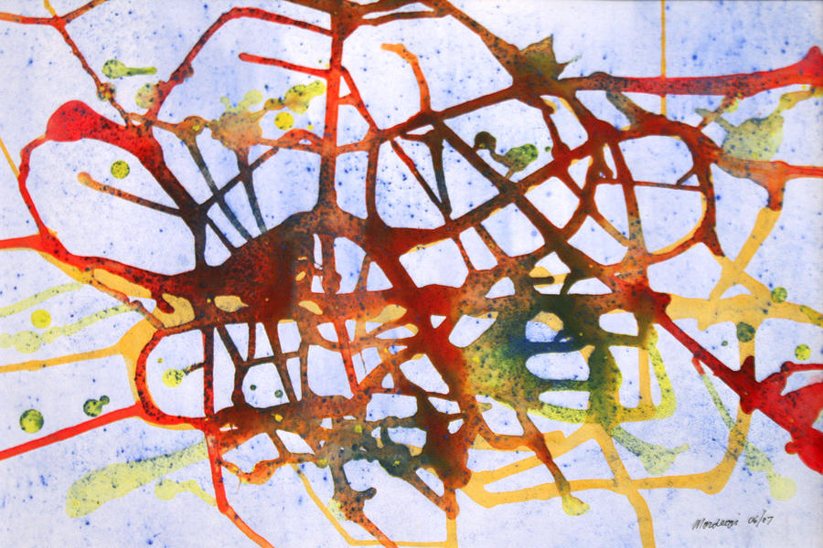 Abstract Painting - Neuron by Mordecai Colodner
