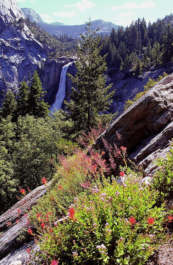 Nevada Falls Photograph - Nevada Falls Yosemite National Park by Alan Lenk