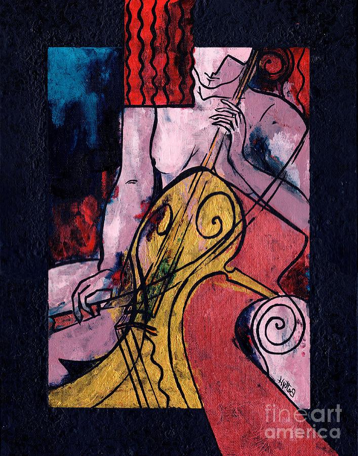 Original Art Painting - Never Alone by Elisabeta Hermann