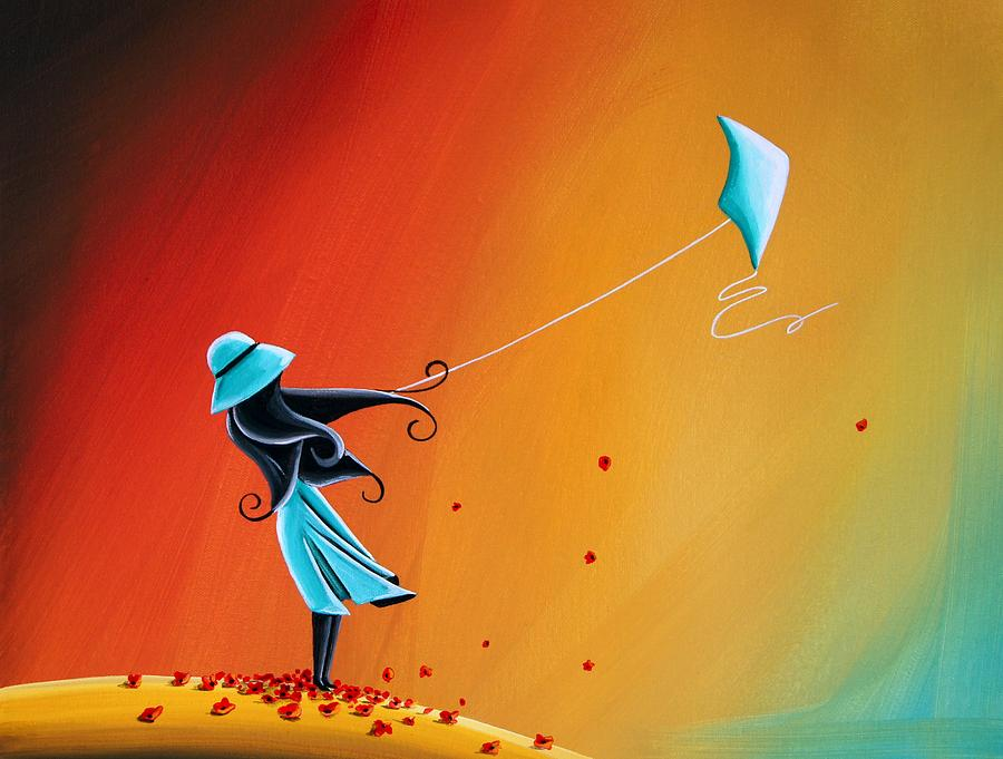 Girl Painting - Never Let Go by Cindy Thornton