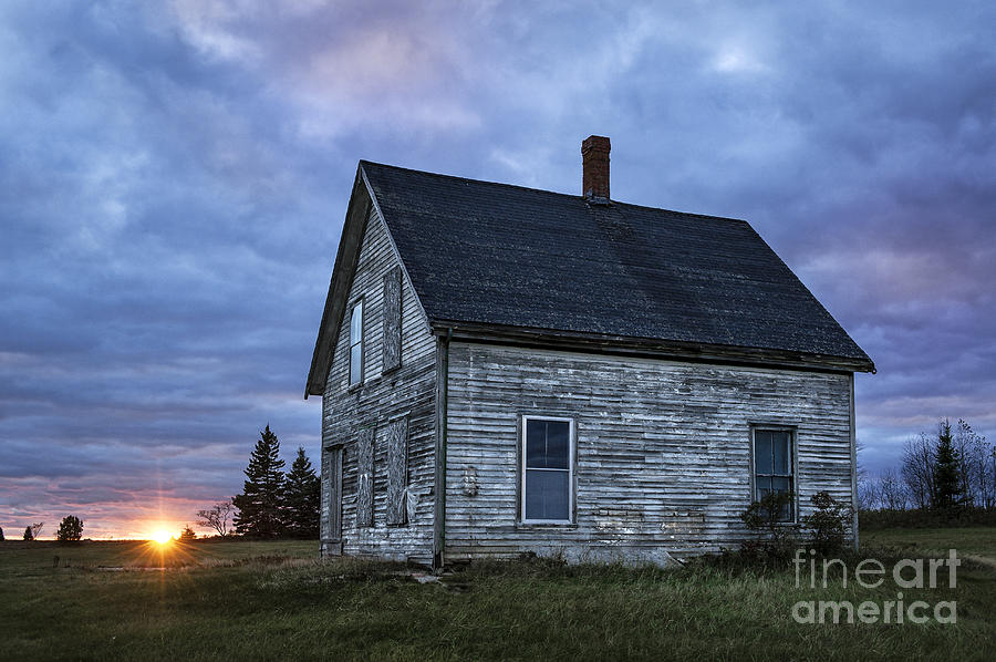 Abandoned Photograph - New Day Old House by John Greim