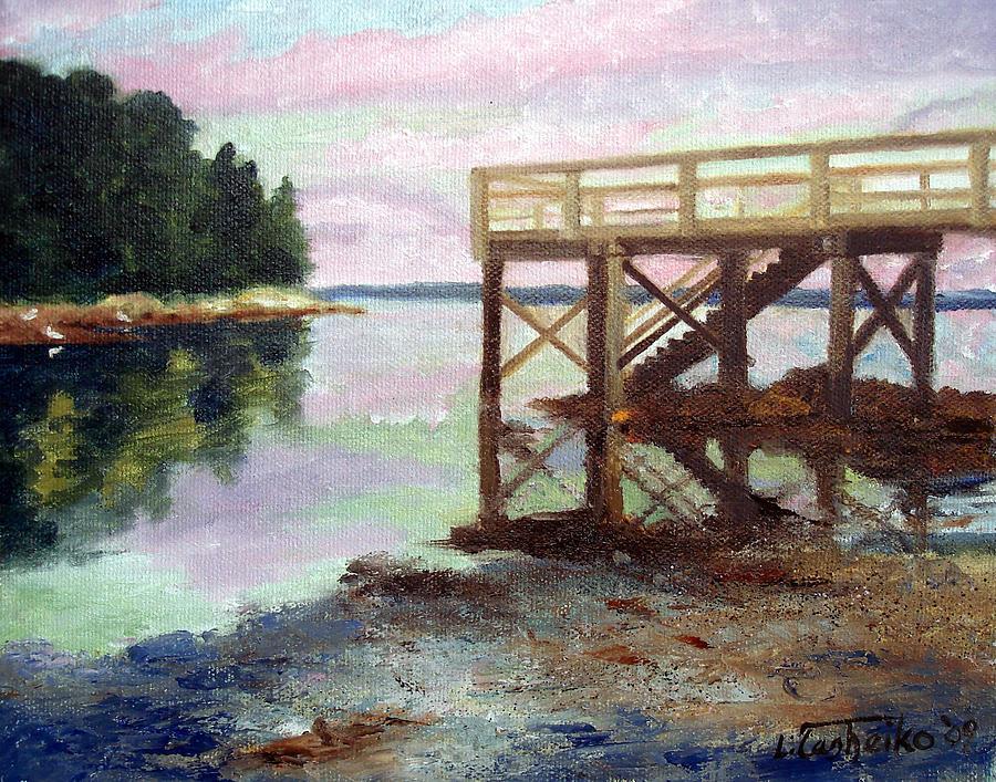 New Dock At Saturday Cove Beach Painting