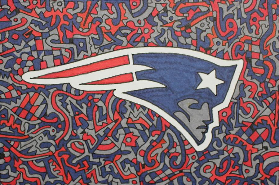 New England Patriots Painting By Olaya Gallery