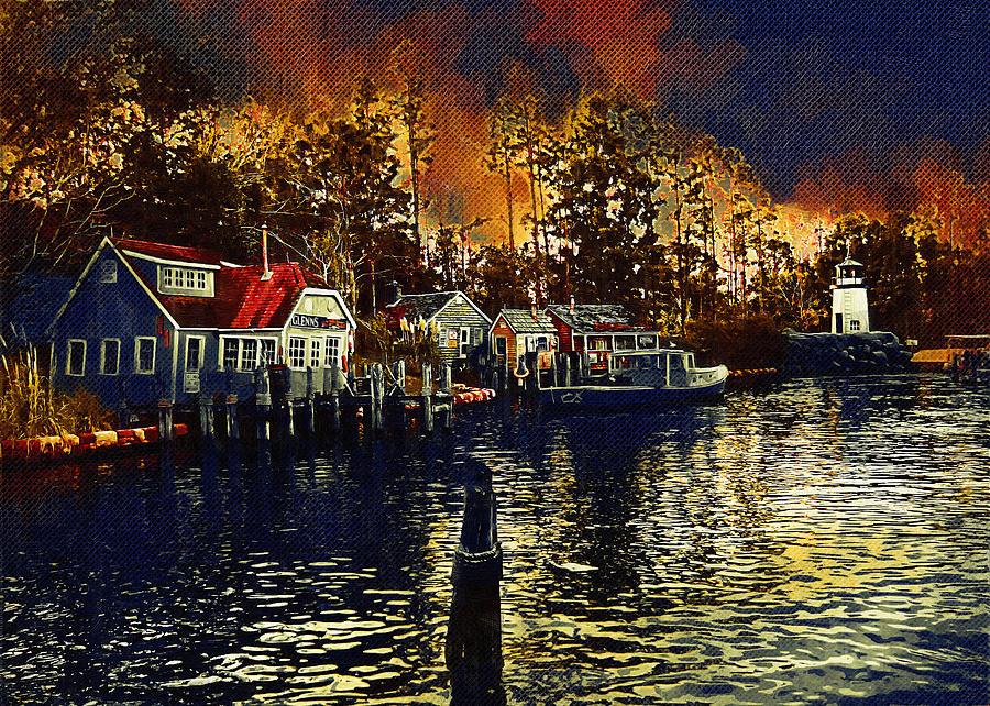 New England Town Digital Art