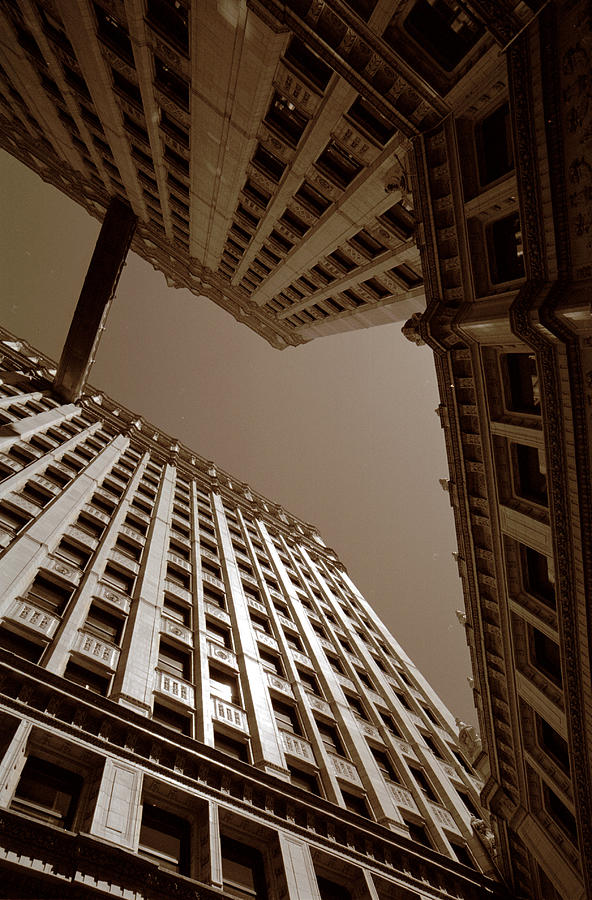 Chicago Photograph - New Heights - Wrigley Building - Chicago by Dmitriy Margolin