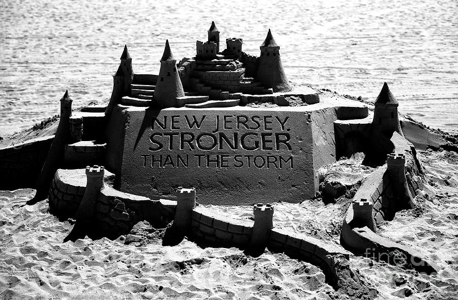 New Jersey Stronger Than Storm Photograph - New Jersey Stronger Than Storm by John Rizzuto
