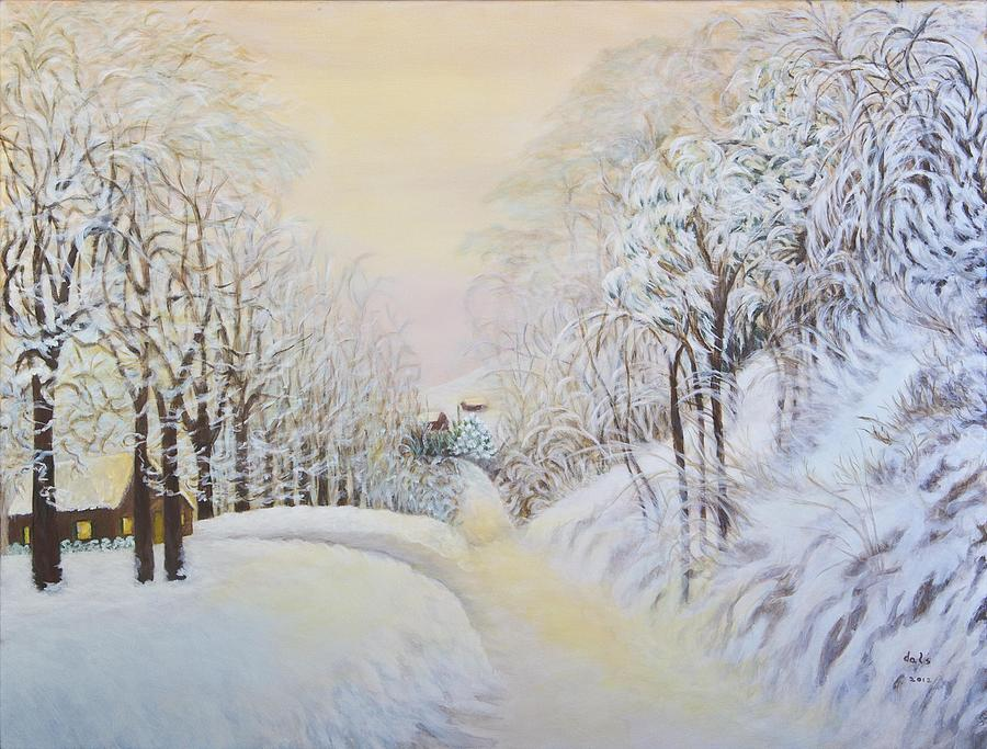 Snow Painting - New Snow In Hunting Hills by Douglas Ann Slusher