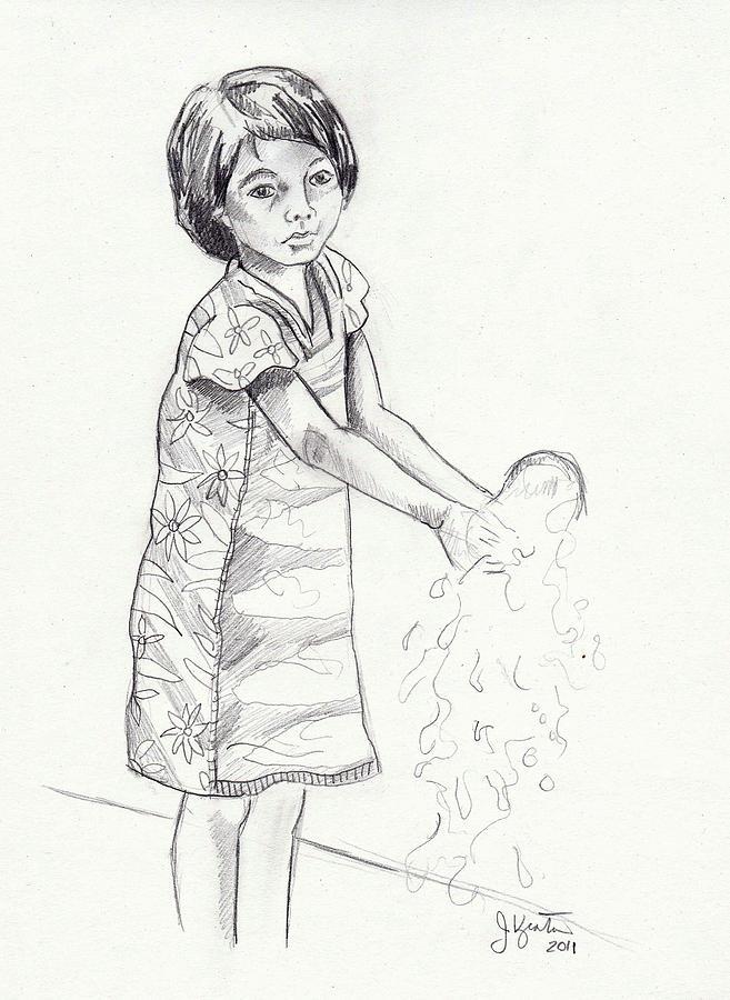 Water Drawing - New Water by John Keaton