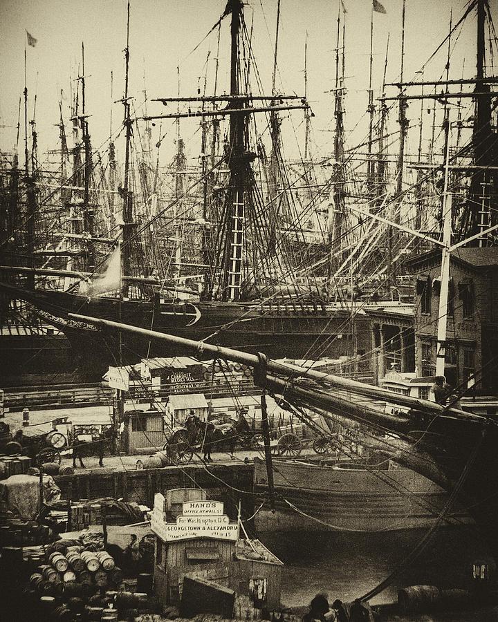 New York City Docks - 1800s Photograph