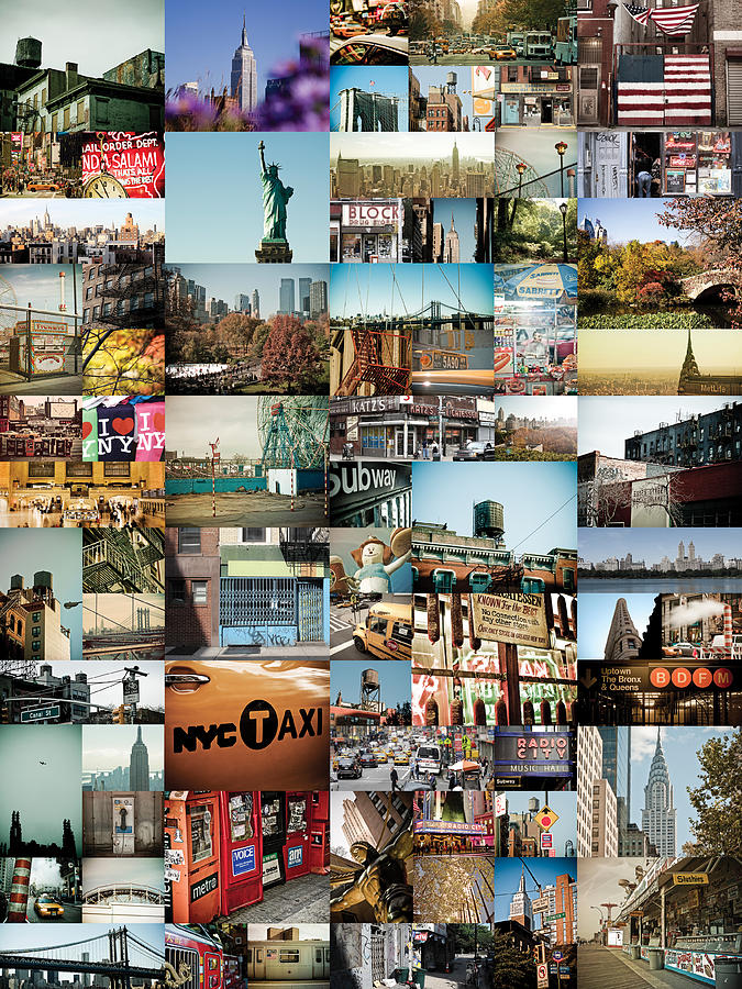 Photograph - New York City Montage 2 by Darren Martin
