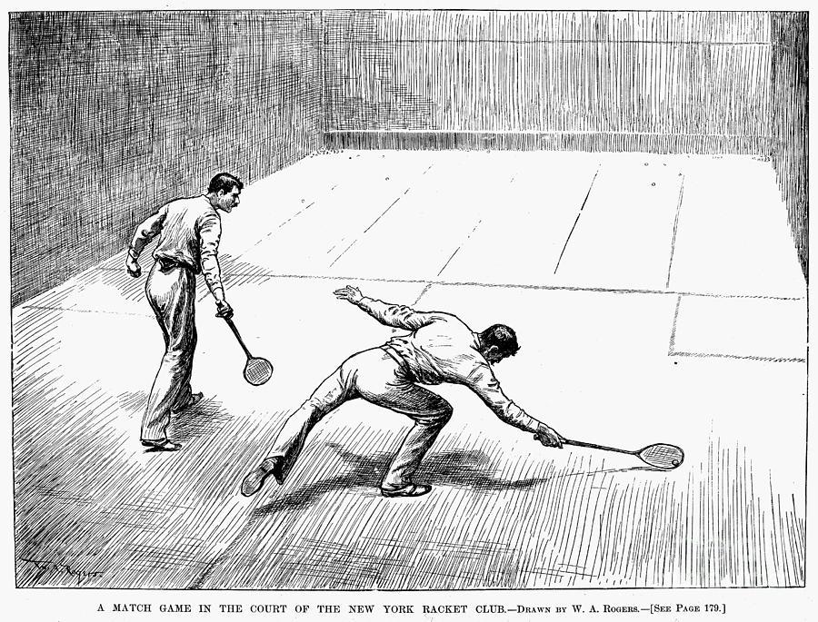 1890 Photograph - New York: Racket Club by Granger