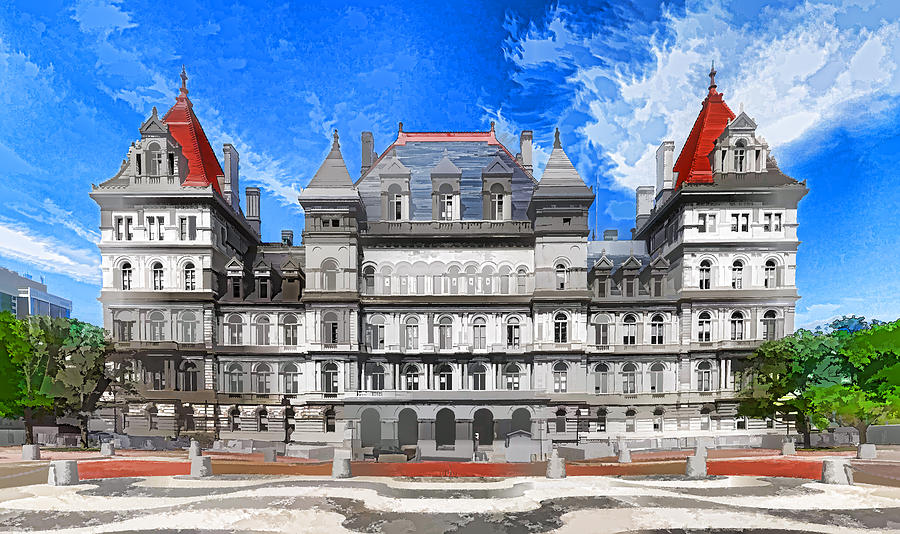 Capitol Painting - New York State Capitol by Lanjee Chee