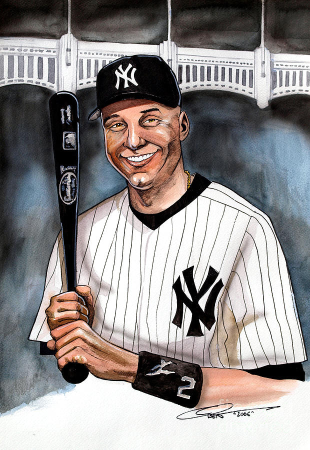 New York Yankee Derek Jeter Painting