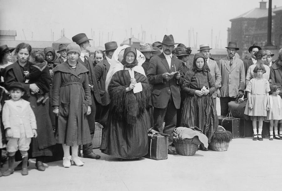 History Photograph - Newly Arrived European Immigrants by Everett
