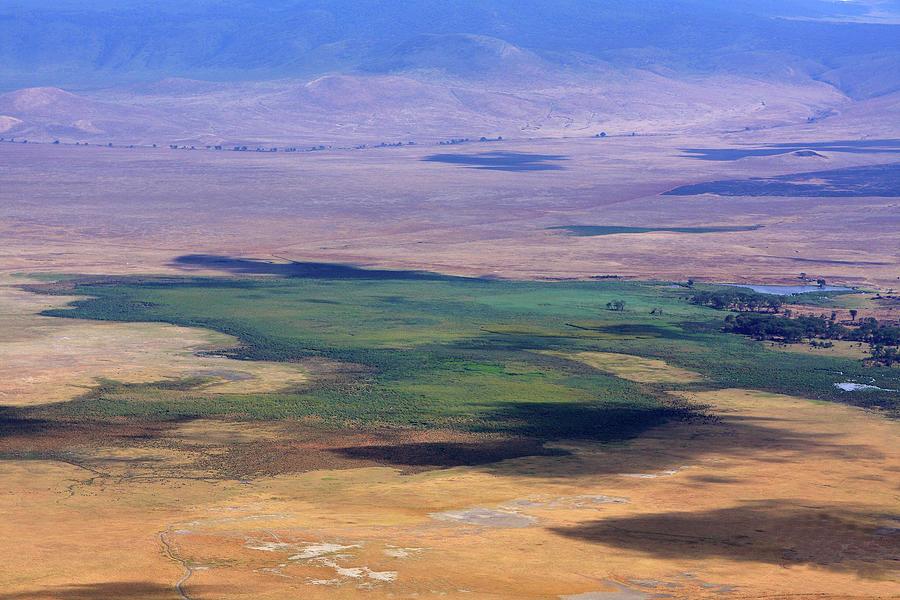 Ngorongoro Crater Photograph - Ngorongoro Crater Tanzania by Aidan Moran