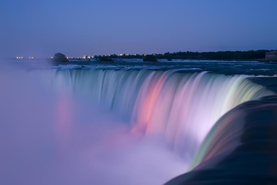 Niagara Falls At Dusk Photograph