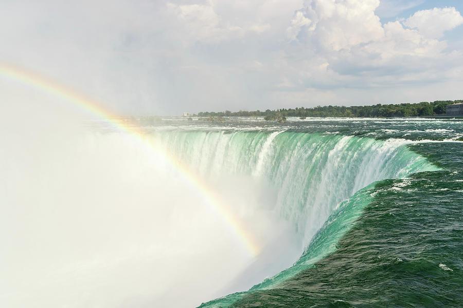 Niagara Falls - Emerald Water And A Rainbow Photograph