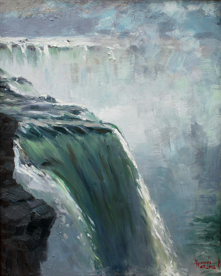 Niagara Falls Ny Painting - Niagara Falls Ny by Ylli Haruni