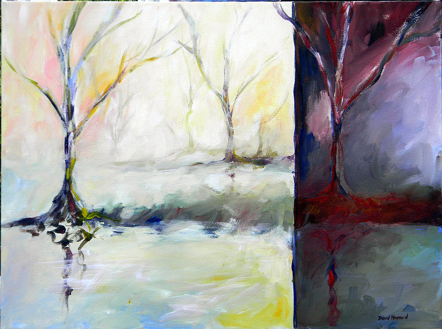Abstract Landscape Painting - Night And Day by David  Maynard