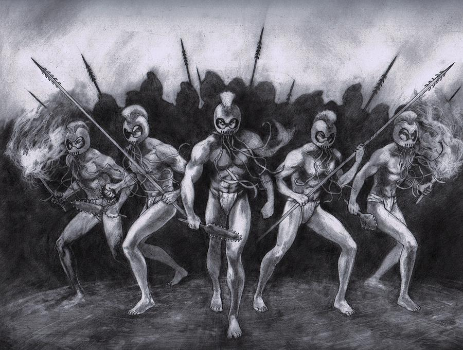 Night Marchers is a drawing by Amiri Bennett which was uploaded on ...