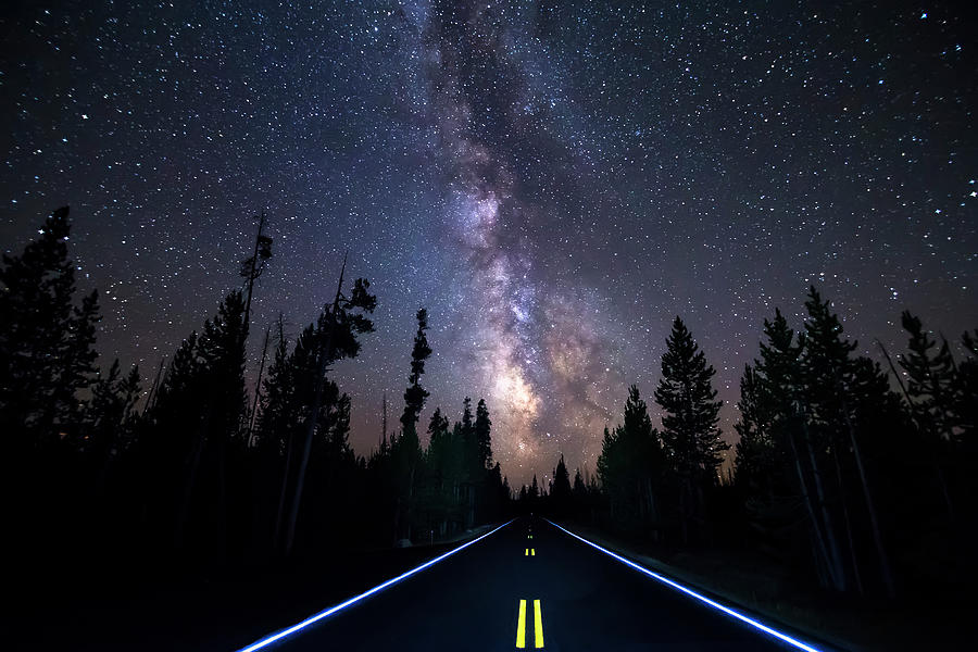Night Moves Into The Milky Way Photograph