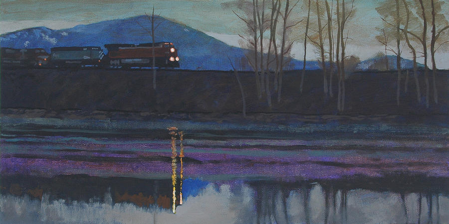 Image result for night train painting