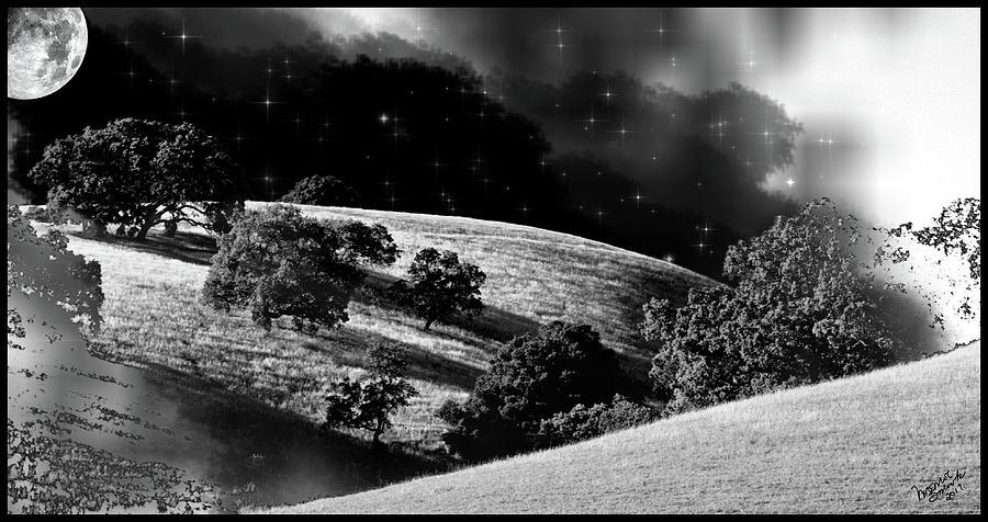 Farm Photograph - Night Treatment by Monroe Snook