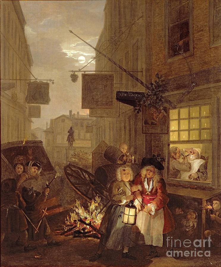 Night painting by william hogarth for William hogarth was noted for painting