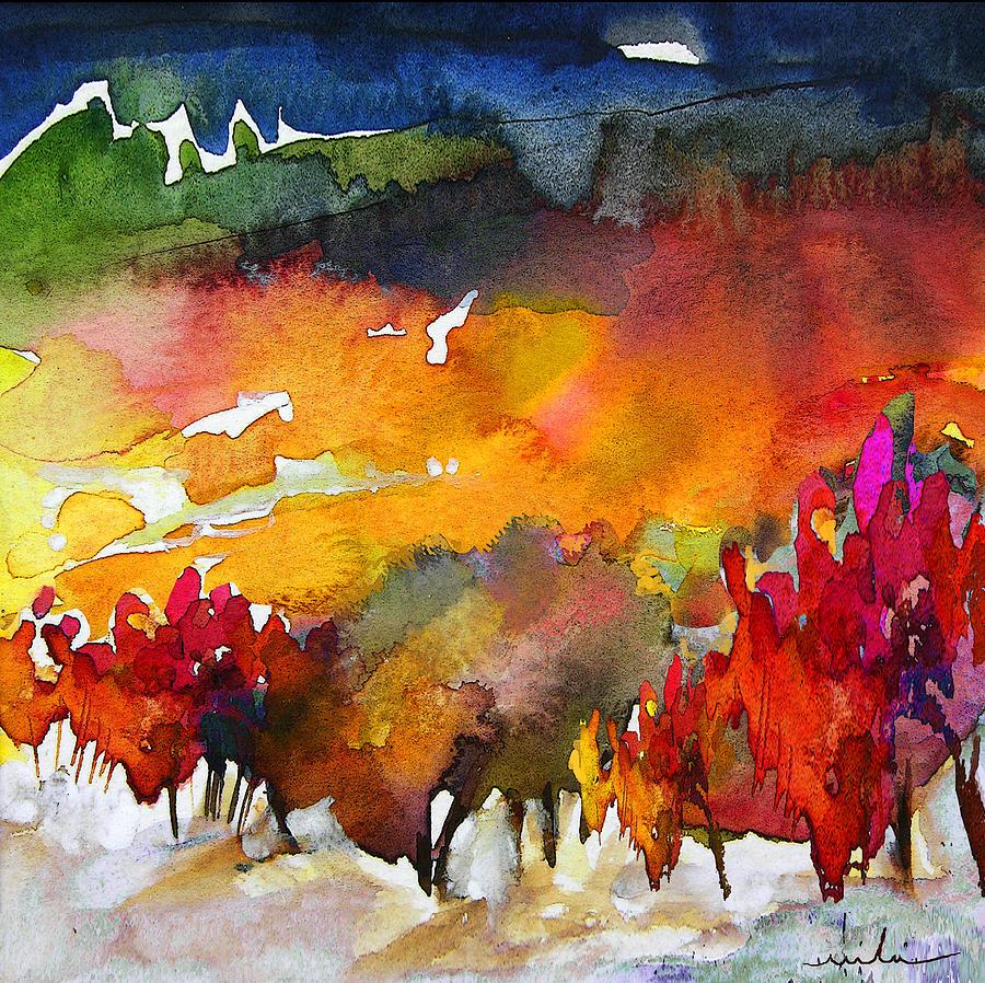 Watercolour Painting - Nightfall 06 by Miki De Goodaboom