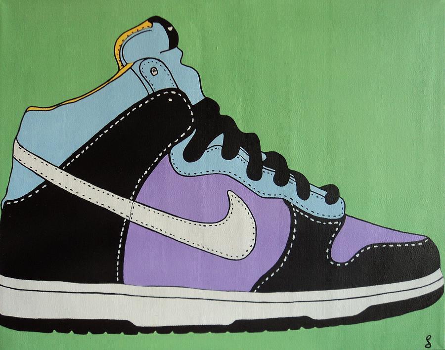 Shoe Painting - Nike Shoe by Grant  Swinney