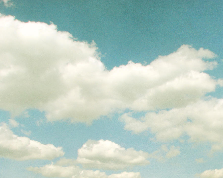 Clouds Photograph - No Time No Place No Mind by Violet Gray
