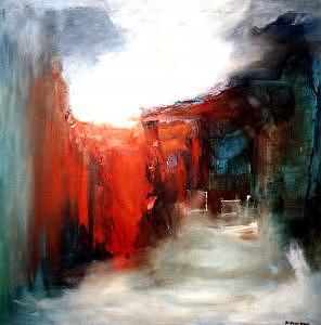 Abstract Art Kunst Abstrakte Painting - No Title 5 by Walter Kvolbaek