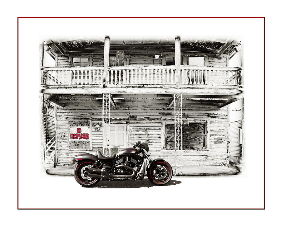 Harley Photograph - No Trespassing by Mal Bray